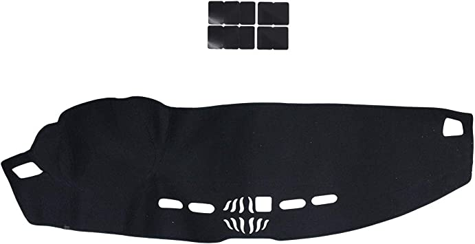 NewYall Black Dash Mat Cover Dashboard Pad