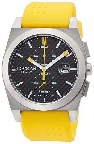 LOCMAN watch stealth classic Quartz Chronograph Men's 0202 020200CBFYL1GOY Men's [regular imported goods]