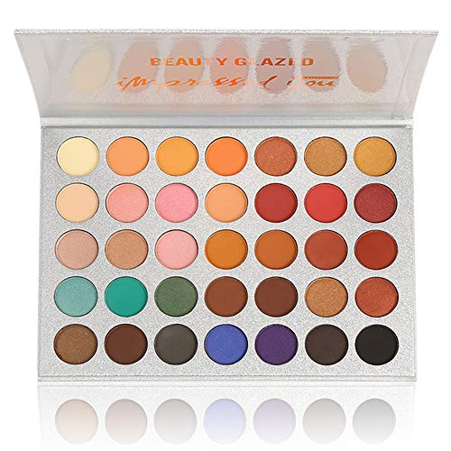 Beauty Glazed Eyeshadow Palettes 35 Colors Makeup Matte Eye Shadow Palettes Waterproof Pallete office clean