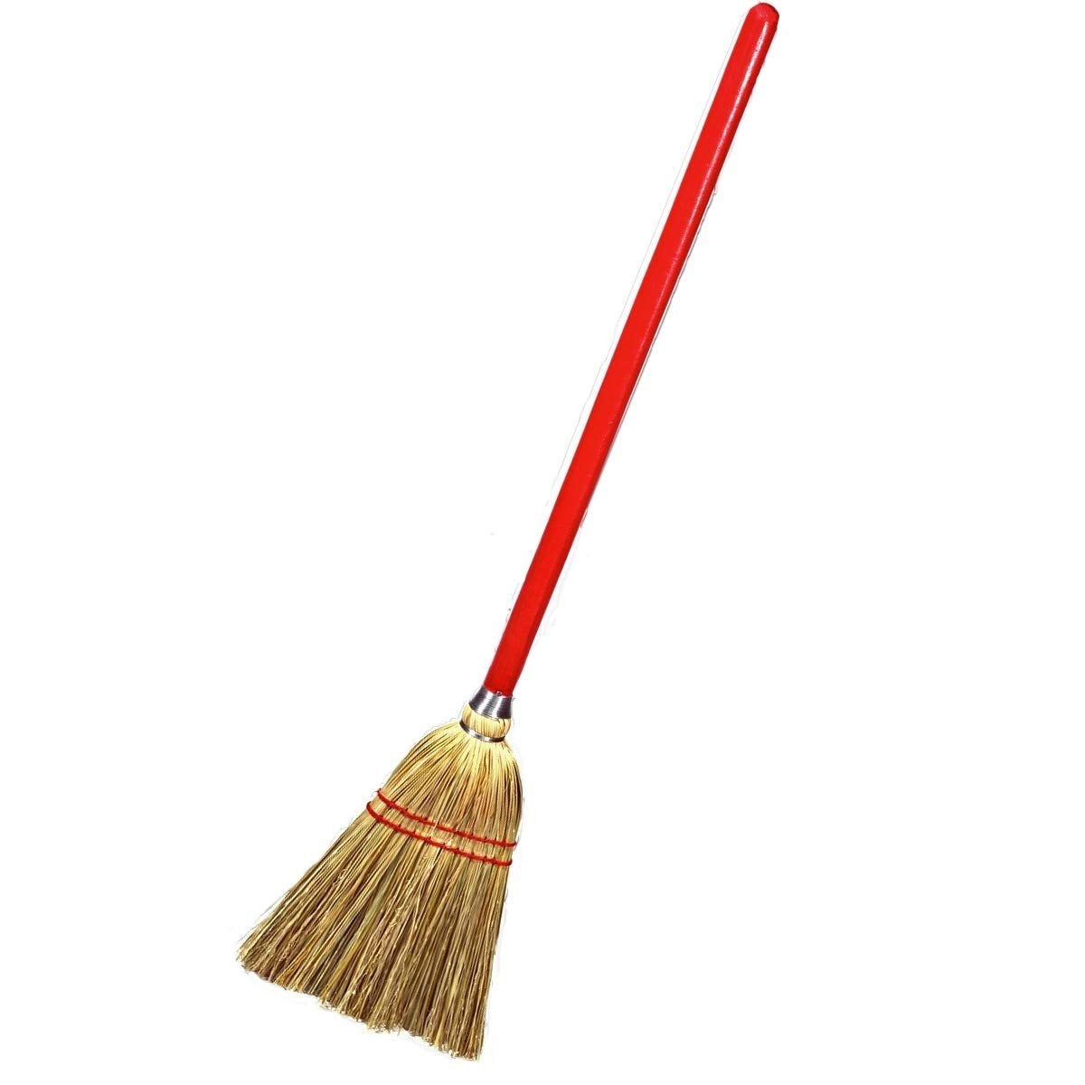 """Rocky Mountain Goods Small Broom for Kids and Toddlers - Solid Wood Handle with 100% Natural Broom Corn bristles - Ideal Kids Size 34"""" - Heavy Duty Durability - Toy Broom (1)"""