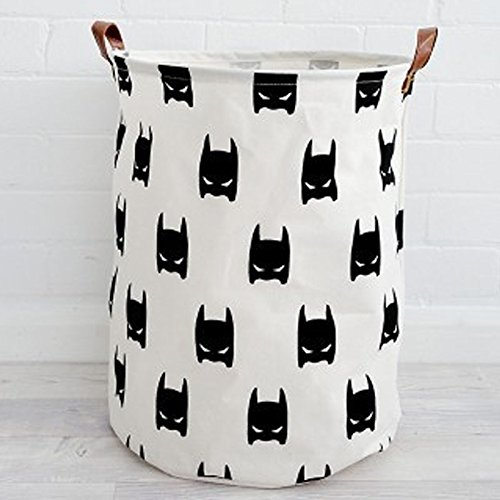 BoTen Canvas Storage Bag Children's Toys Storage Boxes Household Recyclable Storage Bag (Batman) by BoTen