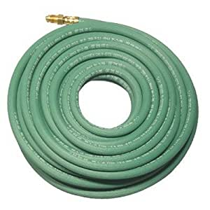 Anchor 25 ft Single Green Hose with Argon Fittings (5) - r 1/4x25 green argon hose w/fitting
