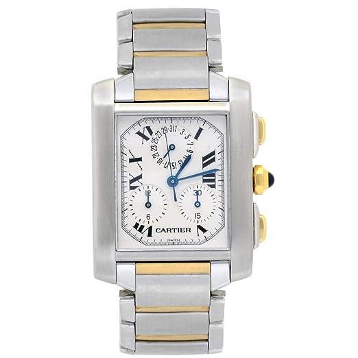 Cartier Tank Cuarzo Mens Reloj 2303 (Certificado) de Segunda Mano: Cartier: Amazon.es: Relojes