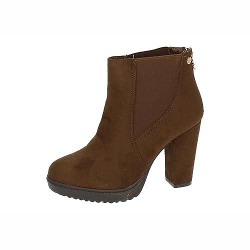 XTI 28325 Botines DE TACÓN Mujer Botines Canela 40: Amazon.es: Zapatos y complementos