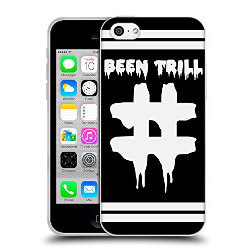 Official Been Trill Hashtag Double Stripe Black And White Soft Gel Case for Apple iPhone 5c