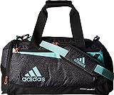 adidas Team Issue Duffel Bag, Black Jersey/Energy Aqua/Lucid Red, Small