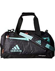 adidas Team Issue Duffel Bag, Small, Black Jersey/Energy Aqua...