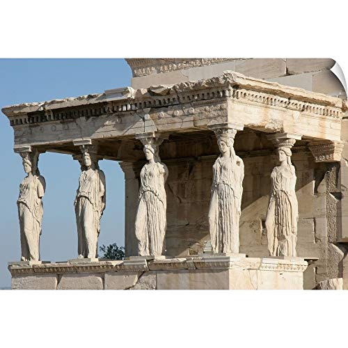 CANVAS ON DEMAND Erechtheum, Porch of The Caryatids, Acropolis, Athens, Greece Wall Peel Art Print, 30
