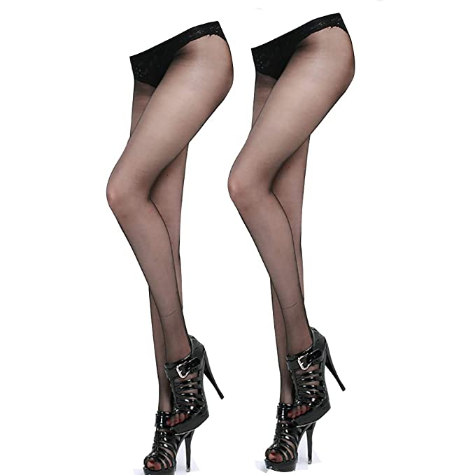 7f1cf30cd47 Ultra Sheer Crotchless Pantyhose for Sexy(2 Pairs)- 8D Shimmer Open Crotch  Free