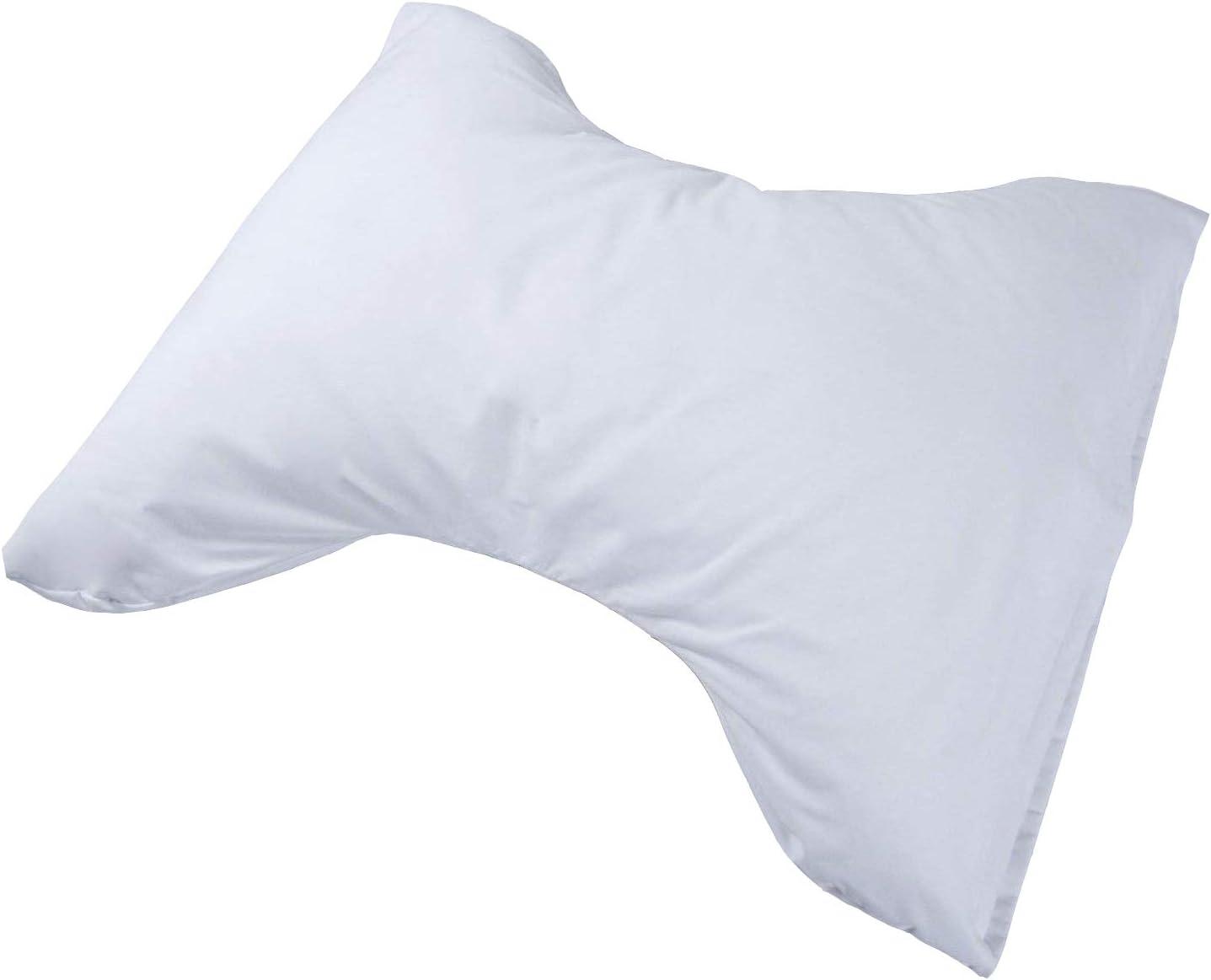 Almohada de mariposa auténtica con funda de almohada blanca, ortopédica, apoyo cervical para espalda y cuello, alivio del dolor, perfecta para quienes duermen de lado