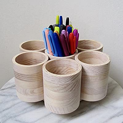 7 Cup Studio PRO Rotating Colored Marker Storage, Colored Pencil Holder Organizer, Holds 175+ Large Barrel Drawing Tools