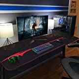 Furniwell 55 Inch Gaming PC Computer Desk with