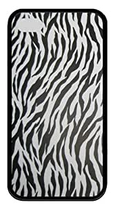 iPhone 4s Case & Cover - Zebra Stripe TPU Silicone Case Cover for iPhone 4 and iPhone 4s - Black