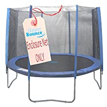 Upper Bounce 14 ft Trampoline Enclosure Safety Net Fits Using 8-Straight Poles by Upper Bounce