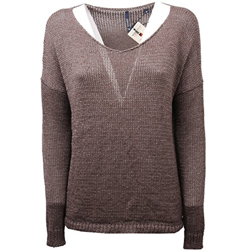 Marrone Sweater C4726 Woolrich Woman Maglia Donna New Shine Tape naRUnxq