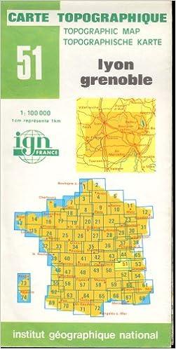 Lyon Karte.Map 51 France Lyon Grenoble Carte Topographique None