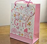 Medium & Large 3D Baby Girl Gift Bags & Tag!! (Large)