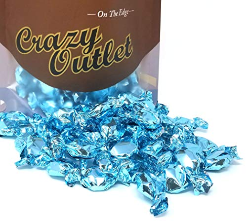 - CrazyOutlet Pack - Light Blue Foil Candy Buttons, Blue Raspberry Flavor Hard Candies, It's a Boy Party Candy, Individually Wrapped, 2 lbs