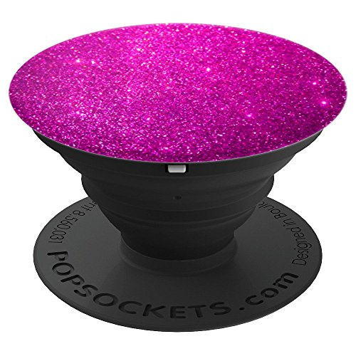 Printed Deep Pink Magenta Purple Shimmer - PopSockets Grip and Stand for Phones and Tablets