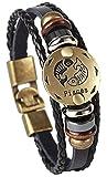 KAVANI Zodiac Constellation Luminous Astrology Horoscop Bracelet for Men and Women Leather Wristband Bangle