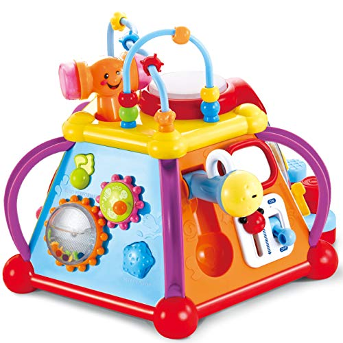 - JOYIN Baby Toddler Activity Center Musical Activity Cube Play Learning Center Toy 15 in 1 Interactive Educational Activity Pyramid Multi-functions with Lights Sounds