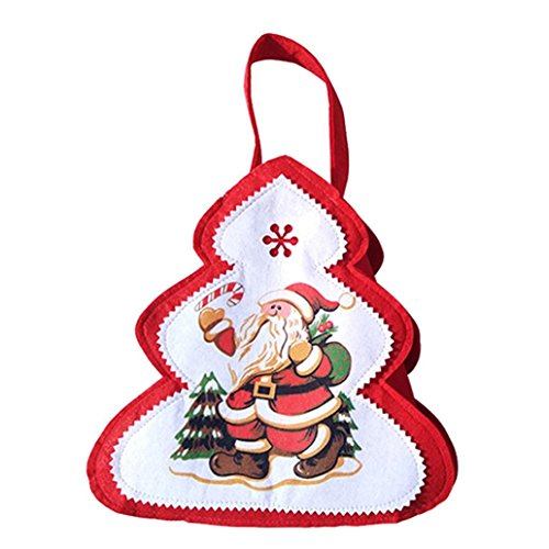 AIMTOPPY Snowman Santa Claus Tree-shaped Bag Christmas Candy Gift Bag Decoration Supplies (A) (Snowman Make Up)