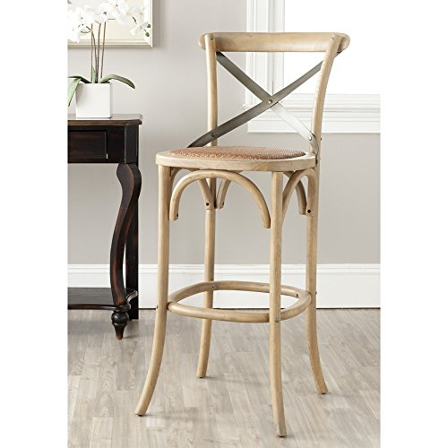 Oak Traditional Bar Stools (Safavieh American Homes Collection Eleanor Weathered Oak 30.7-inch Bar Stool)