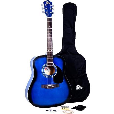 RayGar® - Set guitarra acústica 4/4 de 104 cm (41) con cuerdas de ...