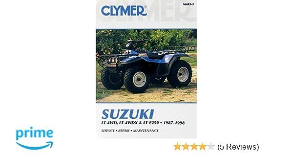 amazon com clymer repair manual for suzuki atv lt lt x lt f250 87 rh amazon com 2001 Suzuki Quadrunner 250 Parts Suzuki LT F250 Troubleshooting Forum