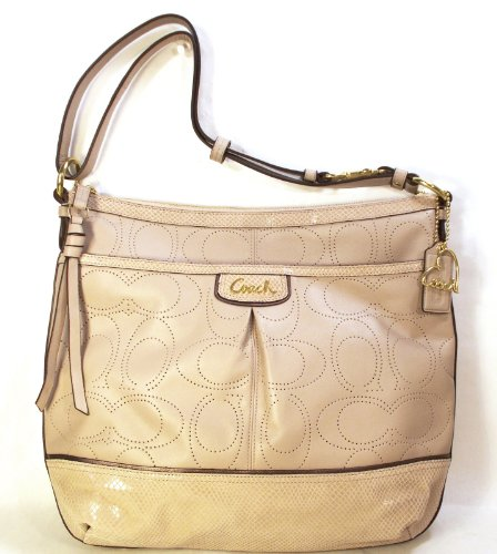 Coach Leather Signature Perforated Park Elevated Duffle Bag 19739 Cashmere Tan, Bags Central