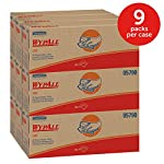 WypAll L40 Disposable Cleaning and Drying Towels (05790), Limited Use Wipers, White, 9 Pop Up Boxes per Case, 100 Sheets per Box, 900 Sheets Total