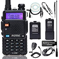BaoFeng UV-5R8W High Power VHF UHF Dual Band Two Way Radio Portable Ham Radio with one More 3800mAh Battery,Speaker…