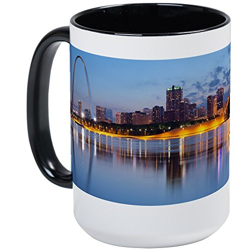 - CafePress - City Of St. Louis Skyline. Large Mug - Coffee Mug, Large 15 oz. White Coffee Cup