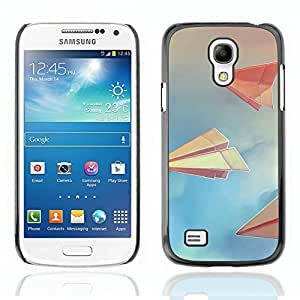 Graphic4You Paper Planes Drawing Design Hard Case Cover for Samsung Galaxy S4 Mini