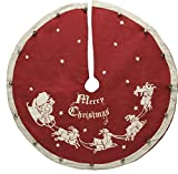 Small Vintage Tree Skirt - Santa & Sleigh