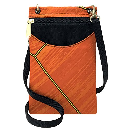 Danny K Women's Tapestry Crossbody Cell Phone or Passport Purse, Handmade in USA -