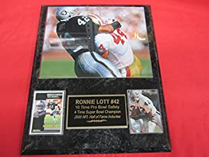 Ronnie Lott Los Angeles Raiders 2 Card Collector Plaque w/8x10 photo