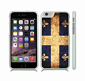 Case Cover For Ipod Touch 5 with Quebec Distressed Grunge Flag Snap-on Cover, Hard Carrying Case (White)