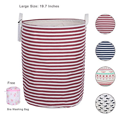 Laundry Hamper for Dorm, Foldable Waterproof 19.7