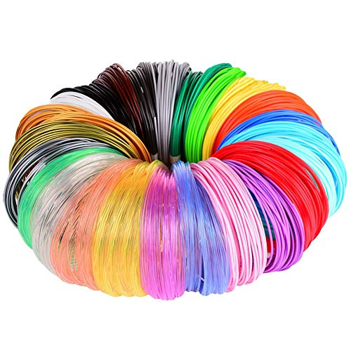 MIKA3D 3D Pen/3D Printer Filament,1.75mm PLA Filament Pack of 24 Different Colors,High-Precision Diameter Filament, Each…