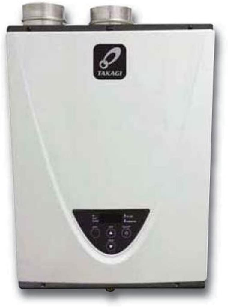 Takagi T-H3J-DV-N Condensing High Efficiency Natural Gas Indoor Tankless Water Heater, 6.6-Gallon Per Minute