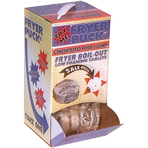 Fryer Puck Fryer Boil-Out Deep Fryer Cleaner Tablet (60 Pack)