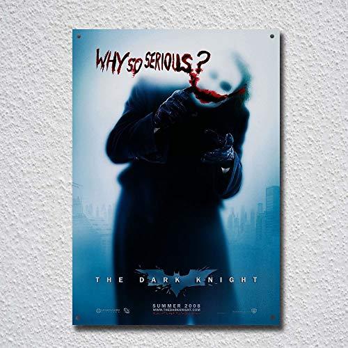 (Batman Joker Why So Serious Poster Image Tin Sign Metal Sign TIN Sign 7.8X11.8 INCH)