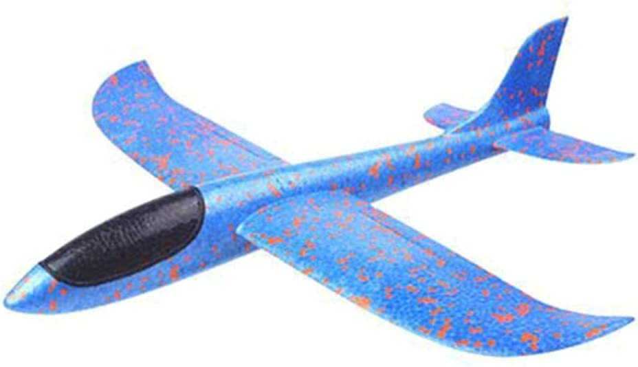 Azul Flying Glider Foam Airplanes Lanzamiento Manual Fun Challenge Modelo Flying Foam Outdoor Sports Toys Flying Toys for Children