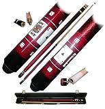 40-549R - Red Royal Flush Poker Pool Stick