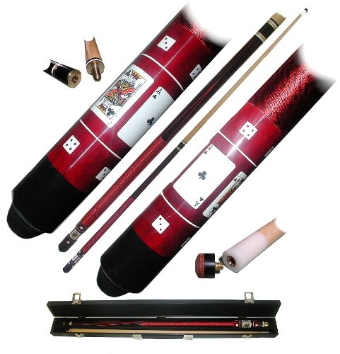 (40-549R - Red Royal Flush Poker Pool Stick)