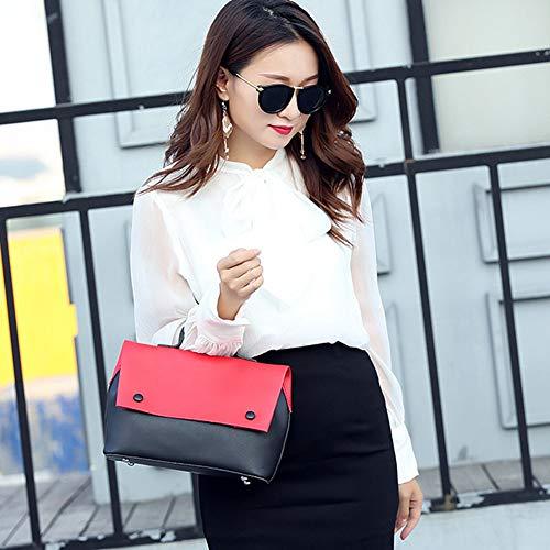 Simili Mode Contraste Colis2 Bandouliere Pink Couture Main A DCRYWRX Sac Diagonale Cuir Définit À Sacoche Sac des Femmes Couleur TwxqFvYz