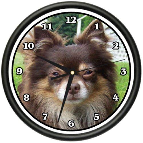 LONG HAIR CHIHUAHUA Wall Clock dog doggie pet breed gift