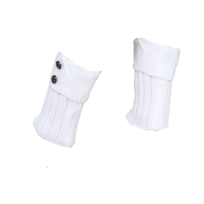 e8022899e Calentadores térmicos Leben de pierna con botones, tejido de punto ...