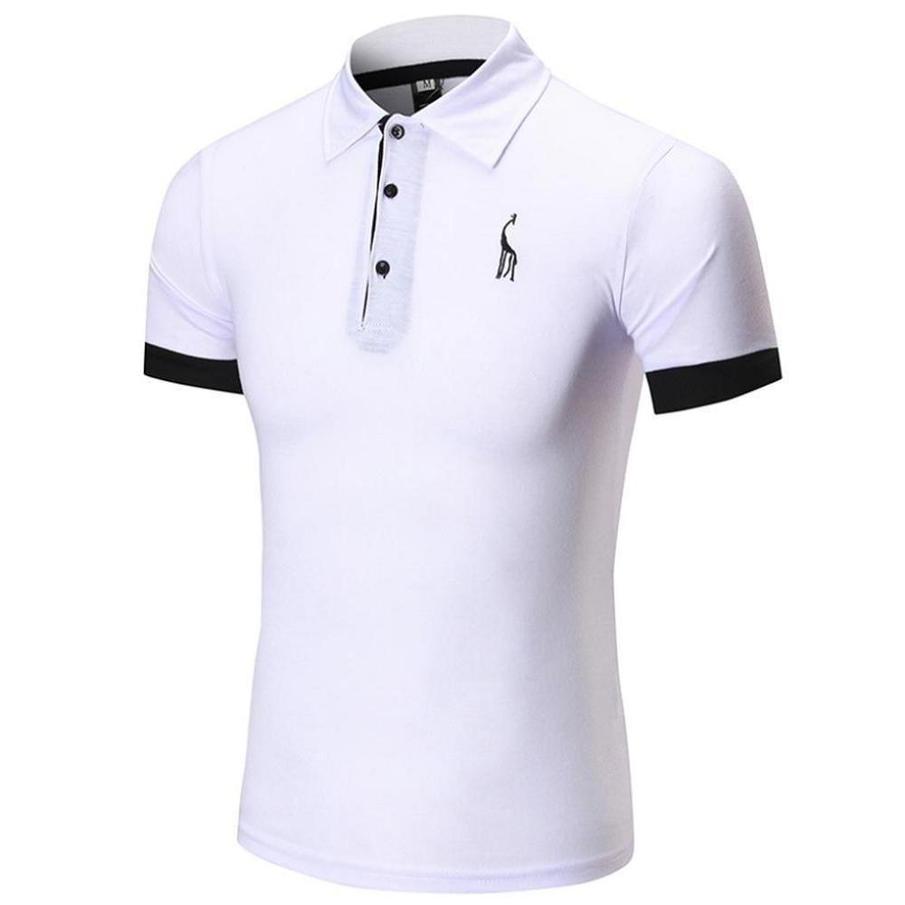 VENMO Ropa Polos Hombre,❤Venmo Camisetas Hombre,Camisas Hombre,Hombres Verano Camiseta de Manga Corta de Casual,Hombres Slim Fit Camisetas Top Blusas VENMOS
